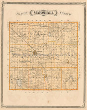 Marshall Starke County Indiana Antique Map Baskin 1876