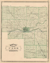 Cass Logansport County Indiana Antique Map Baskin 1876