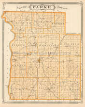 Parke County Terre Haute Indiana Antique Map Baskin 1876