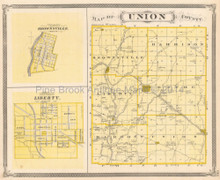 Union Franklin County Indiana Antique Map Baskin 1876