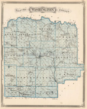 Washington Scott County Indiana Antique Map Baskin 1876