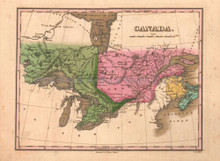 Canada Antique Map Anthony Finley 1824