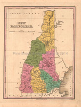 New Hampshire Antique Map Anthony Finley 1824