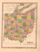 Ohio Antique Map Anthony Finley 1824