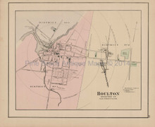 Houlton Caribou Maine Antique Map Colby 1884