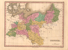 Prussia Antique Map Anthony Finley 1824