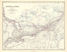 Western Canada Antique Map Johnston 1861