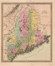Maine Antique Maps Old Maine Maps Vintage Maine Maps Pine Brook - Maps of maine