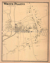White Plains New York Antique Map Beers 1867
