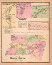Town of North Salem New York Antique Map Beers 1867