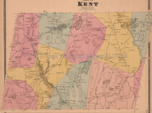 Town of Kent New York Antique Map Beers 1868