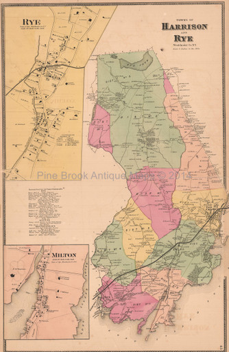 Town of harrison rye new york antique map beers 1868 pine brook town of harrison rye new york antique map beers 1868 freerunsca Image collections