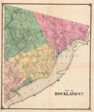 Map of Rockland County New York Antique Map Pearsall Smith 1867