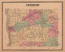 Town of Lewiston New York Antique Map Beers 1875