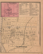 Sanborn Lewiston New York Antique Map Beers 1875