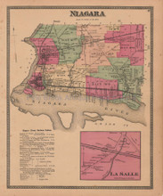 Town of Niagara New York Antique Map Beers 1875