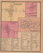 Somerset Orangeport New York Antique Map Beers 1875