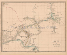 West Africa Antique Map SDUK 1839 Part II