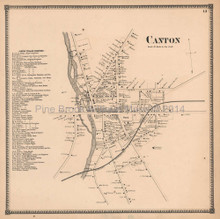 Canton Village New York Antique Map Beers 1865