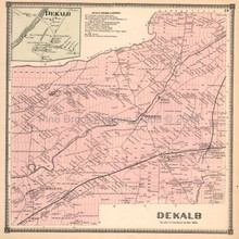 Dekalb New York Antique Map Beers 1865