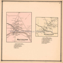 Heuvelton Nicholville New York Antique Map Beers 1865