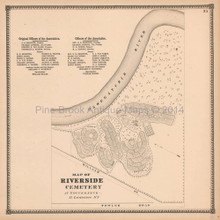 Riverside Cemetery Gouverneur New York Antique Map Beers 1865