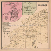 Herman Marshville New York Antique Map Beers 1865