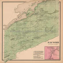 Macomb New York Antique Map Beers 1865
