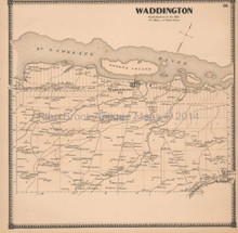 Waddington New York Antique Map Beers 1865