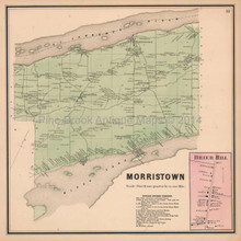 Morristown Brier Hill New York Antique Map Beers 1865