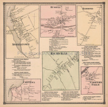 Morristown Russell Hammond New York Antique Map Beers 1865