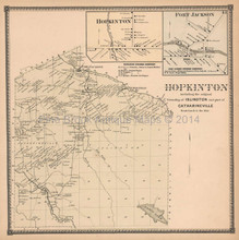 Hopkinton New York Antique Map Beers 1865