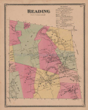 Reading Vermont Vintage Map Beers 1869