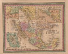 vintage antique maps of mexico for sale mexican decor and gifts
