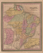 Brazil Vintage Map Brazilian Decor Housewarming Gift Ideas Mitchell 1853