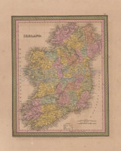 Ireland Vintage Map Mitchell Cowperthwait 1853