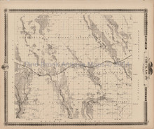 Chickasaw County Iowa Map Antique Andreas 1875