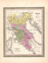 Italy North Vintage Map DeSilver 1855