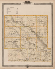 Guthrie Carroll County Iowa Map Antique Andreas 1875