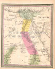 Egypt Nile Vintage Map DeSilver 1855