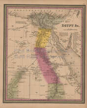 Egypt Antique Map Mitchell Cowperthwait 1852