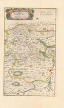 Chateaudun Vendome France Antique Map Blaeu 1660