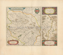 Cleremont Riom Limoges France Antique Map Blaeu 1660