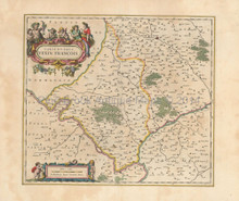 Vernon Pontoise Beauvais France Antique Map Blaeu 1650