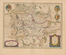 Metz Thionville France Antique Map Blaeu 1650