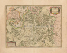 Metz Nancy Saarbrucken France Antique Map Mercator - Hondius 1636