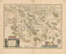 Montchanin Le Creusot France Antique Map Blaeu 1640