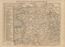 France Vintage Map Munster 1560