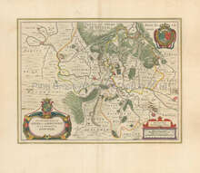 Sedan Charleville-Mezieres France Vintage Map Blaeu 1650