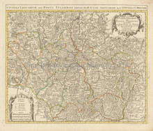 Verdun Metz Nancy France Vintage Map Covens Mortier 1745